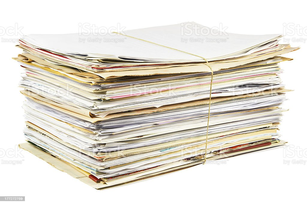 Waste paper isolated royalty-free stock photo