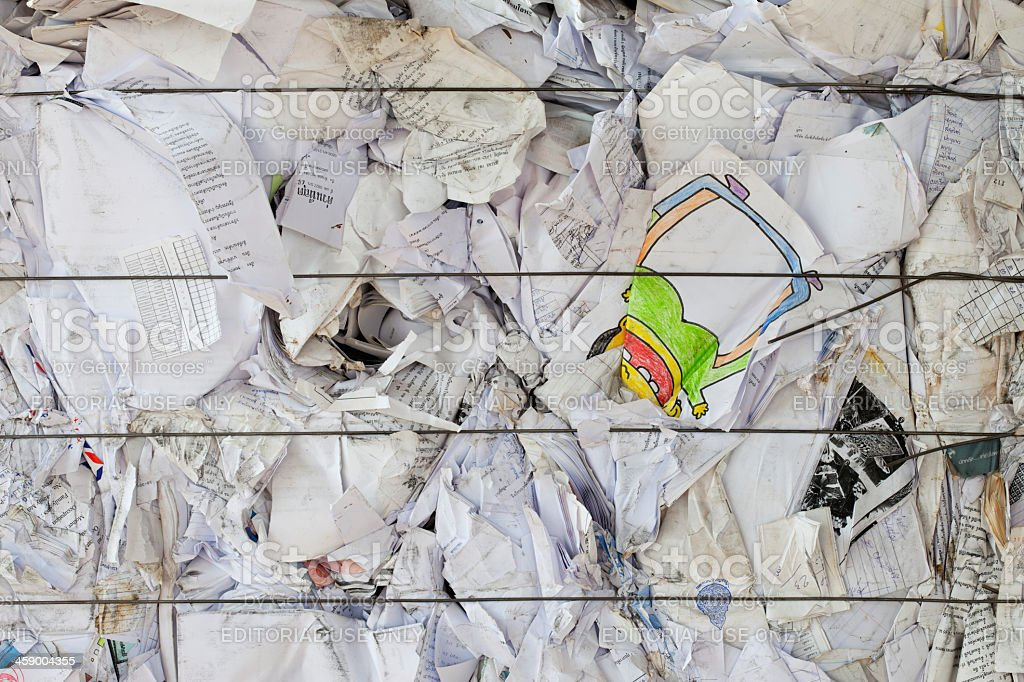 Waste paper ready for recycling. royalty-free stock photo