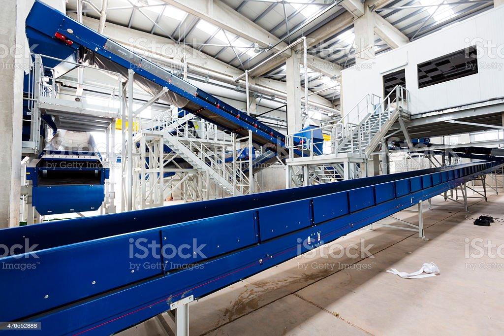Waste plant inside process storage methane oil organic stock photo
