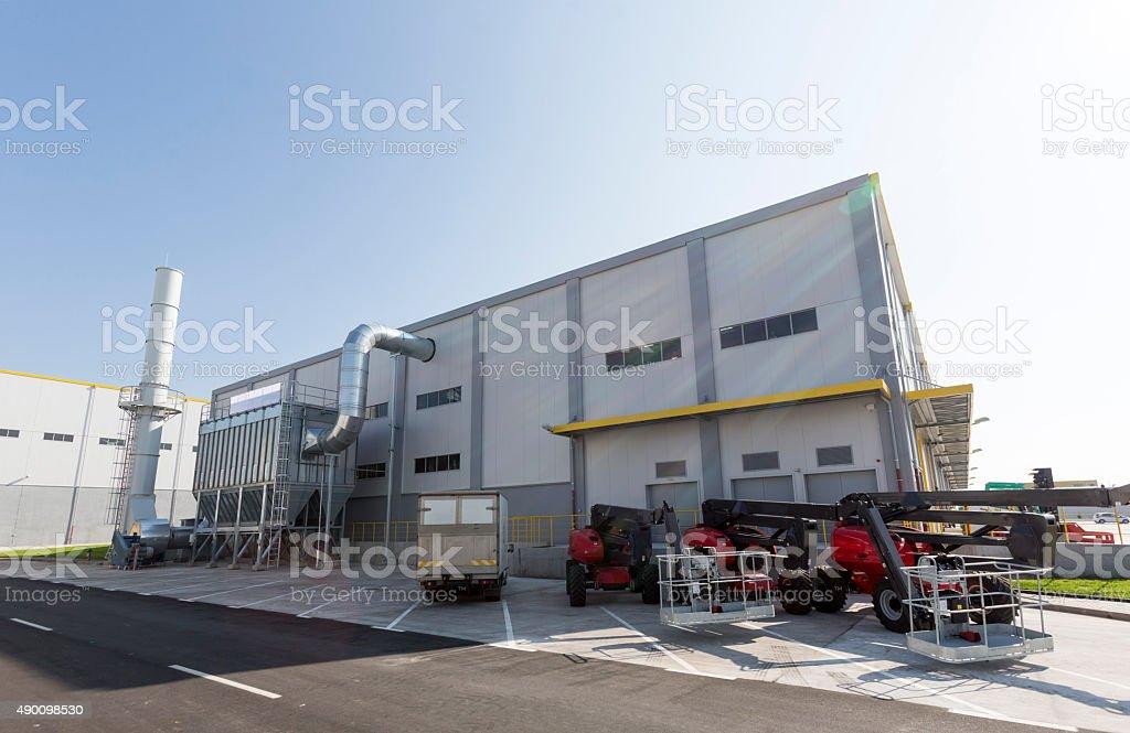 Waste plant outside stock photo
