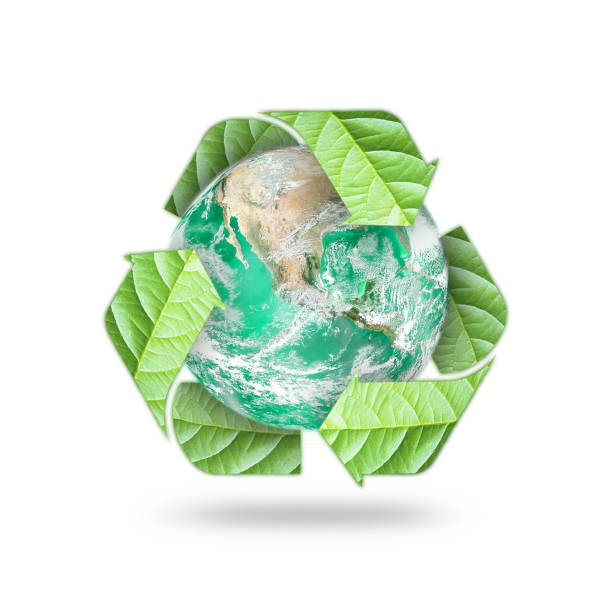 waste recycle management symbolic icon for saving world environmental campaign concept: element of the image furnished by nasa - tree logo stock photos and pictures