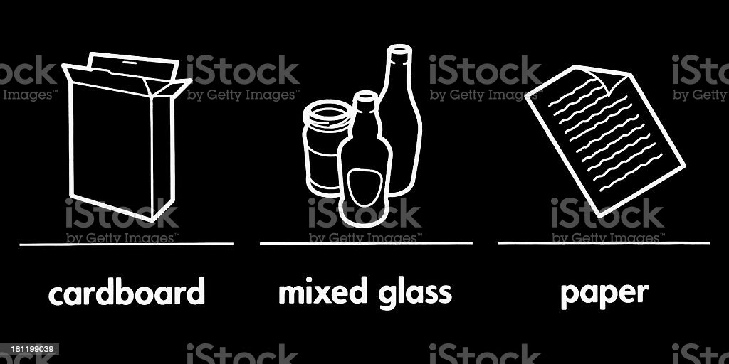 Waste recycling, collecting stock photo