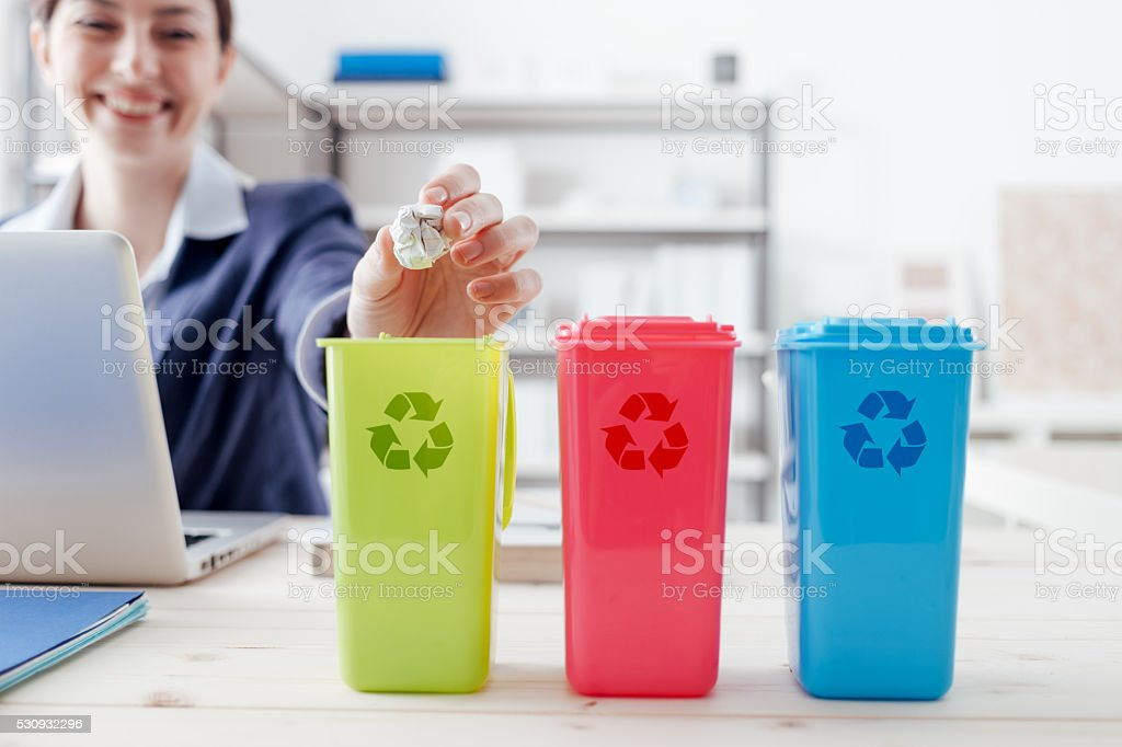Waste separate collection stock photo