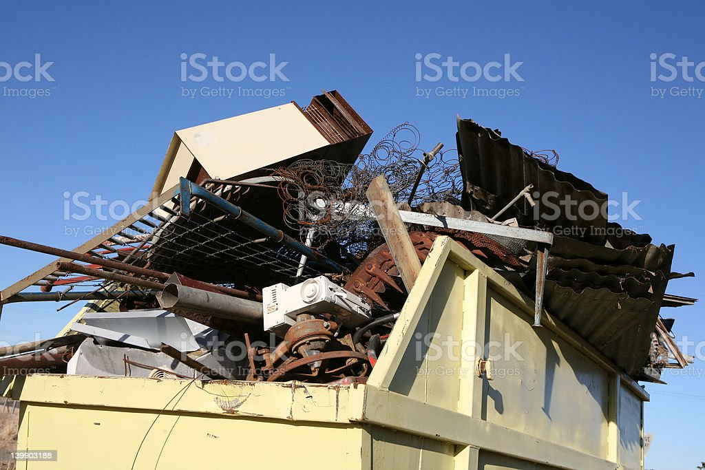 Waste Skip stock photo