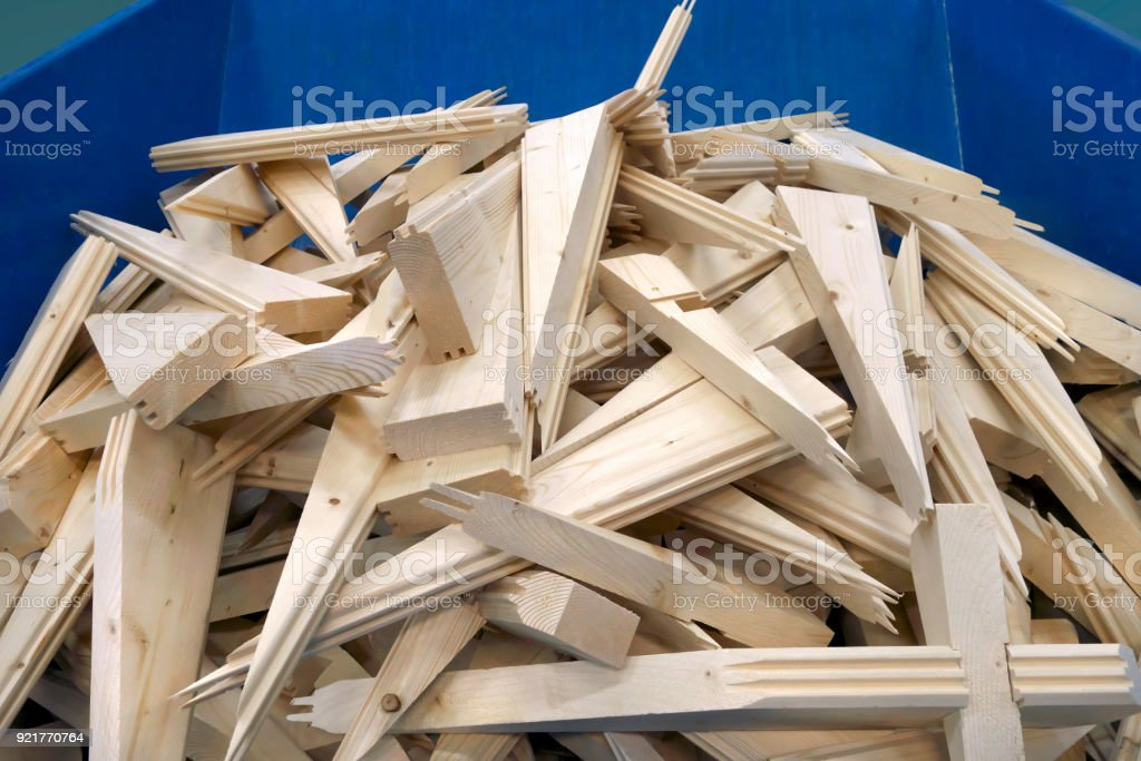 Waste timber stock photo