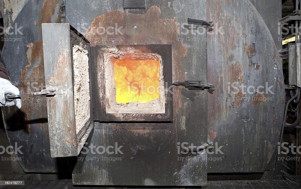 Waste to Energy Facility Incinerator Burning Garbage stock photo