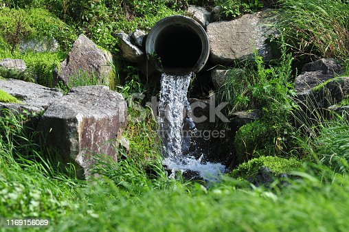 Waste water drains from concrete  pipe