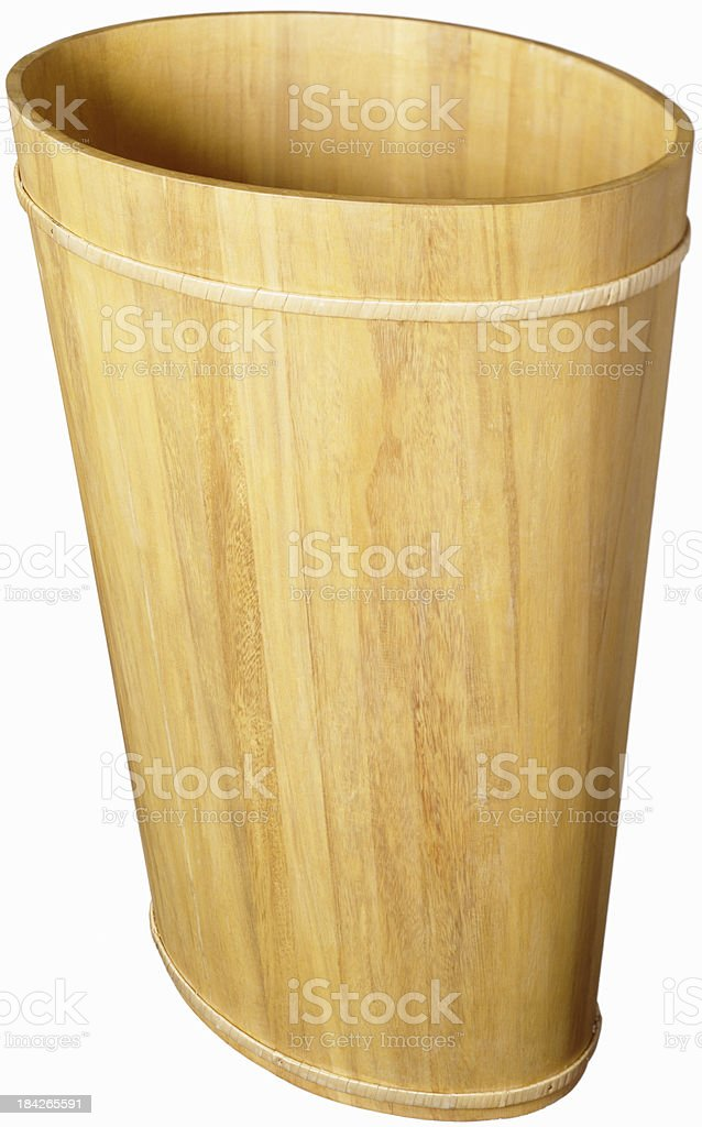 Wastebasket on white stock photo