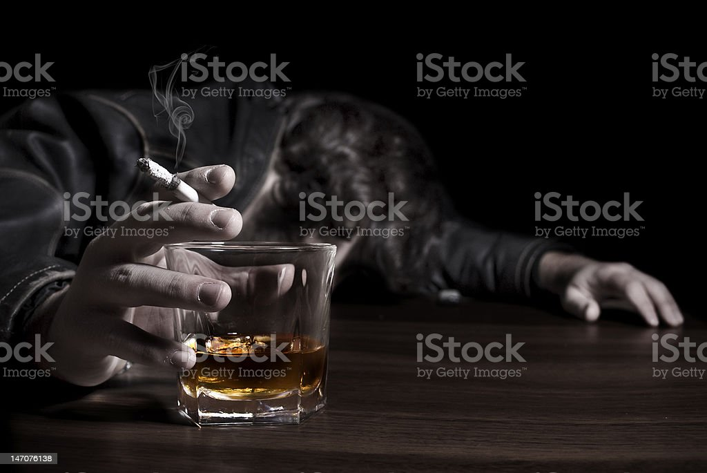 Wasted Man stock photo