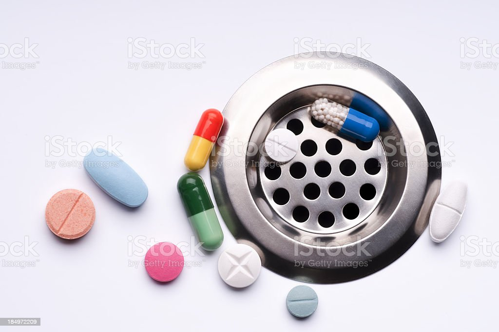 wasted pills royalty-free stock photo