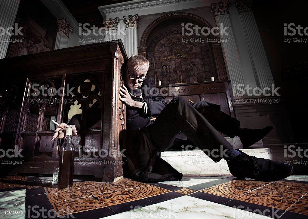 wasted religion royalty-free stock photo