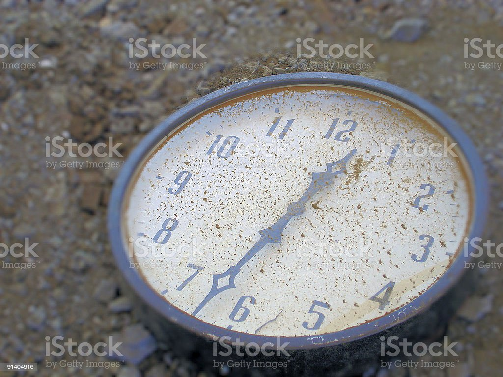 Wasted time royalty-free stock photo