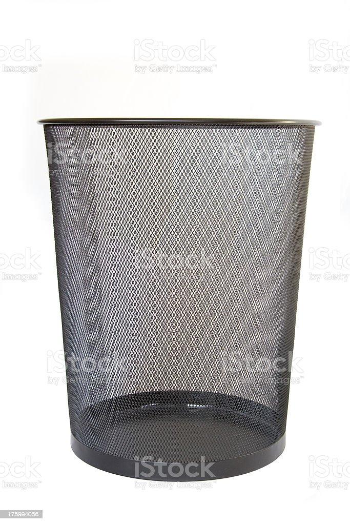 Wastepaper basket - empty royalty-free stock photo