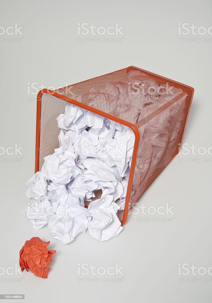 Wastepaper basket royalty-free stock photo