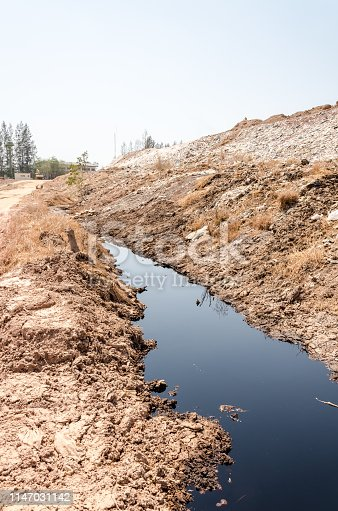 Wastewater from illegal dump site