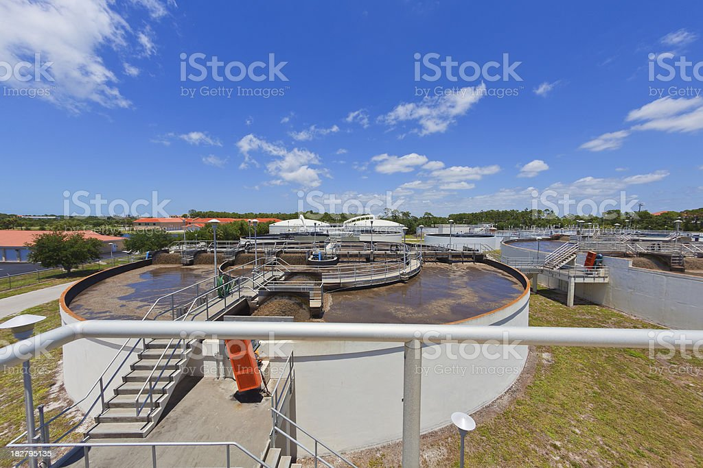 Wastewater Plant royalty-free stock photo