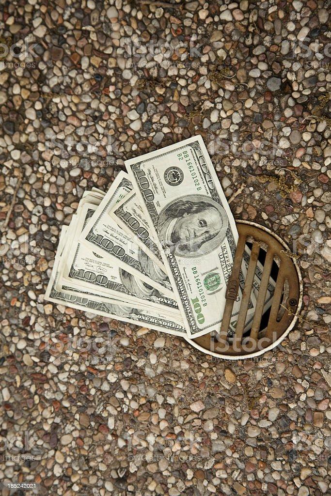 Wasting Money - economics stock photo