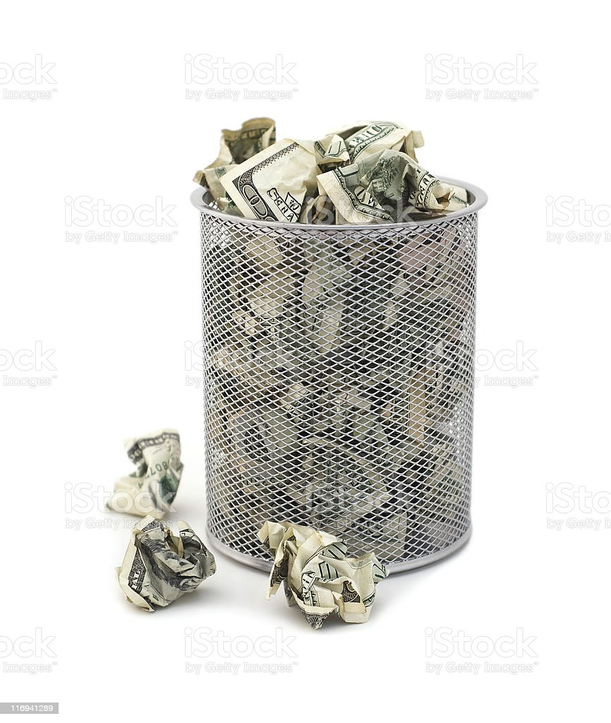 Wasting Money royalty-free stock photo
