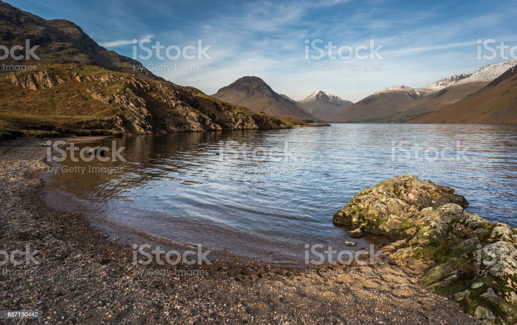 Wastwater Beach - Lake District stock photo