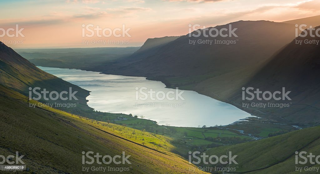 Wastwater from Scafell stock photo