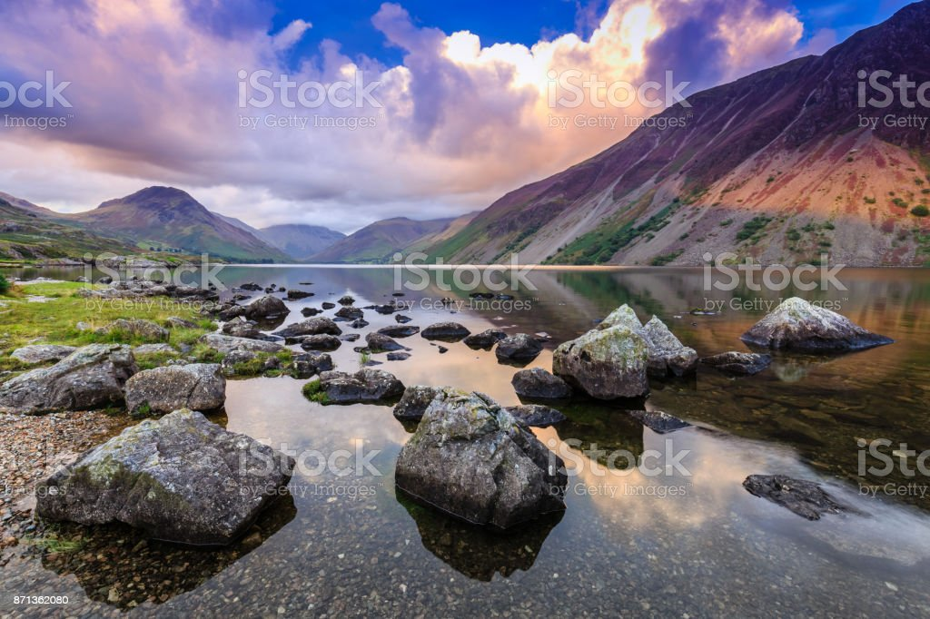 Wastwater in The Lake District stock photo