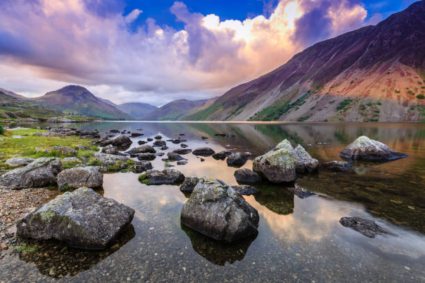 Wastwater in The Lake District Wastwater in The Lake District, Cumbria, England english lake district stock pictures, royalty-free photos & images