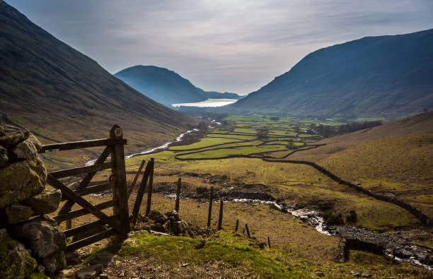 wastwater view - lake district - cumbria stock photos and pictures