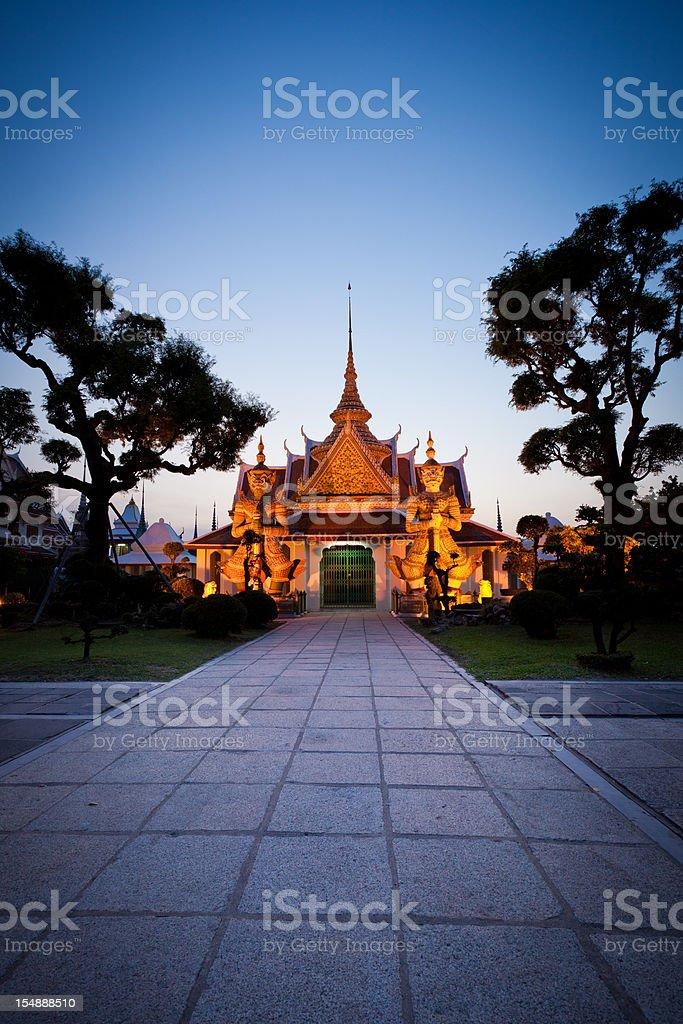 Wat Arun, bangkok by Night stock photo