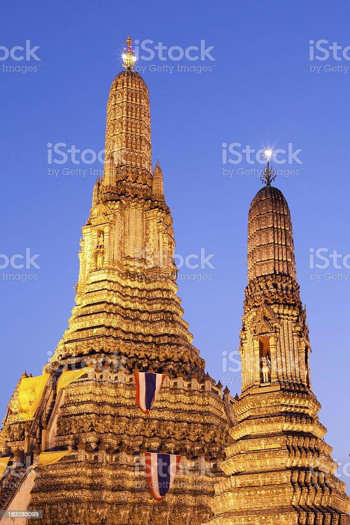 Wat Arun, bangkok by Night royalty-free stock photo