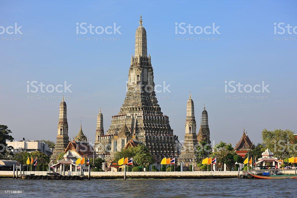 Wat Arun (Temple of Dawn), Bangkok, Thailand. stock photo