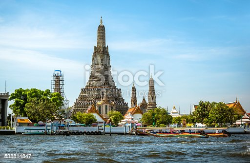 Temple of the Dawn in Bangkok is a Khmer-style Buddhist on the west bank of the Chao Phraya River.
