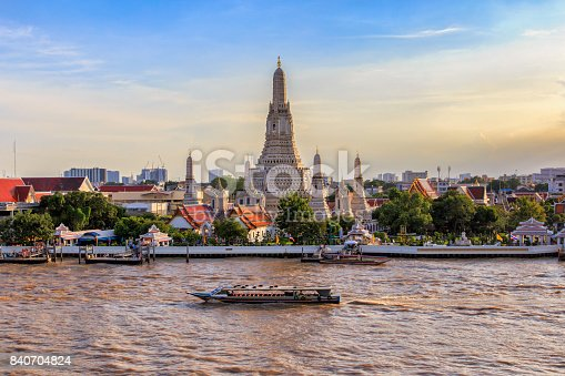 Wat Arun big landmark in Bangkok City, Thailand