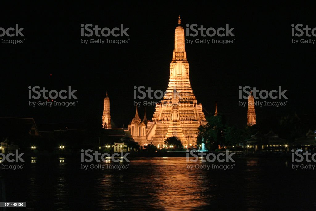 Wat Arun by night stock photo