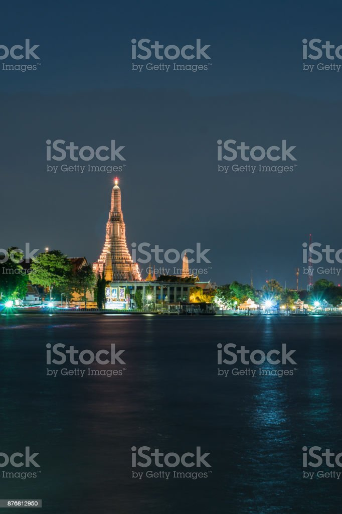 Wat Arun during the Twilight stock photo