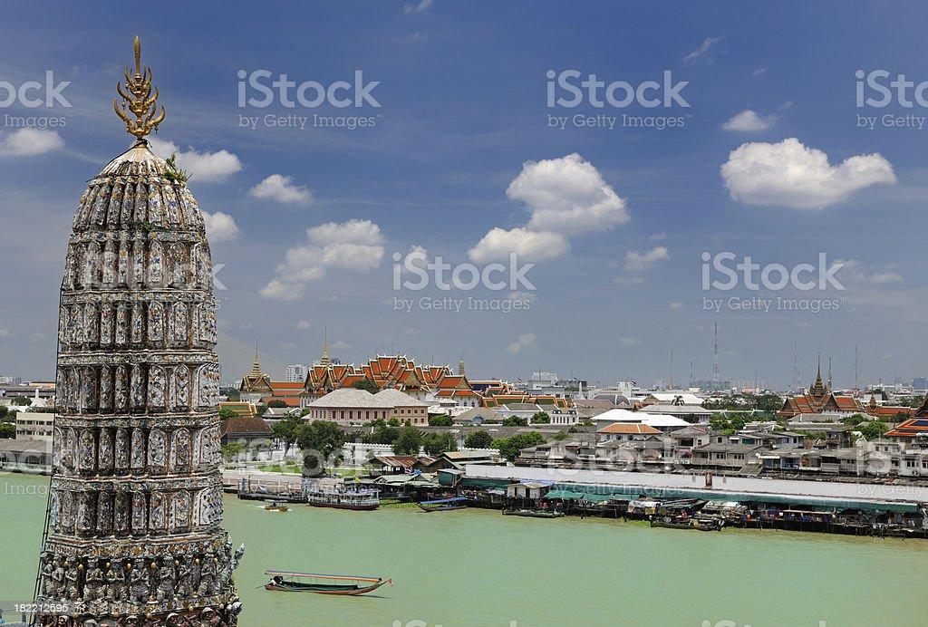 Wat Arun, Grand Palace,  River Chao Phraya, Bangkok Skyline (XXXL) stock photo