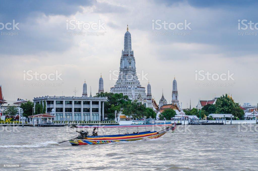 Wat Arun is a Buddhist temple in Bangkok stock photo