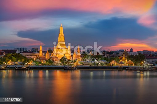Wat Arun landmark in Bangkok City, Thailand