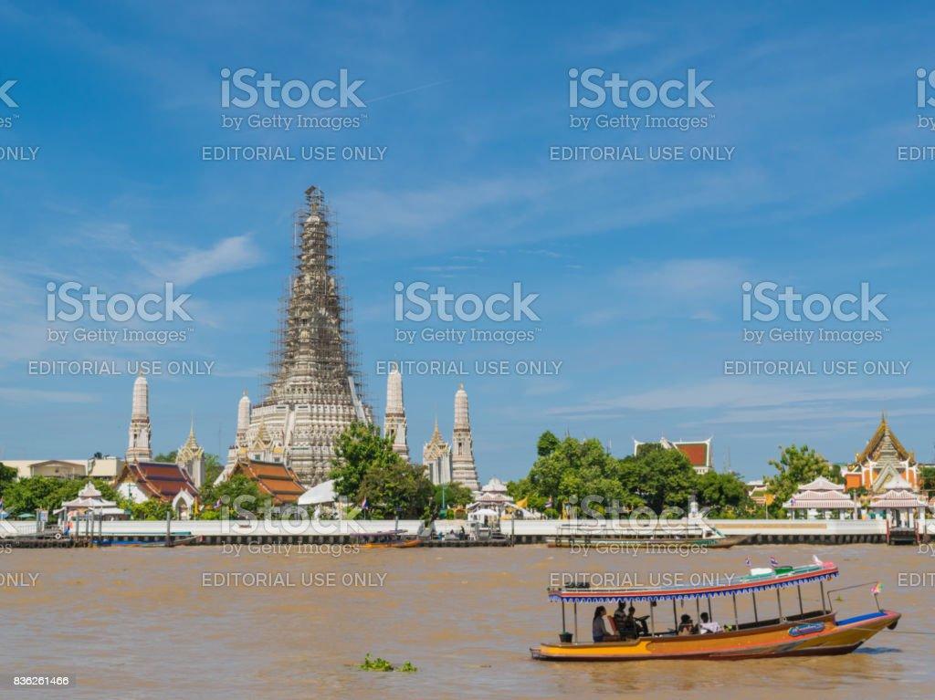 Wat Arun old Temple, Bangkok Thailand stock photo