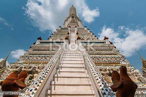 istock Wat Arun Ratchawararam Ratchawaramahawihan (Temple of Dawn) is a temple on the Thonburi west bank of the Chao Phraya River in Bangkok, Thailand. 1147234201