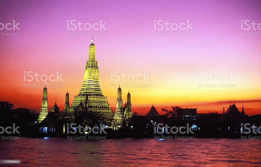 wat arun temple bangkok thailand stock photo