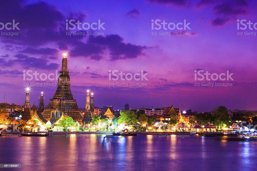 Wat Arun Temple in bangkok asia Thailand stock photo