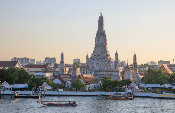 Wat Arun Temple in Bangkok, Thailand stock photo