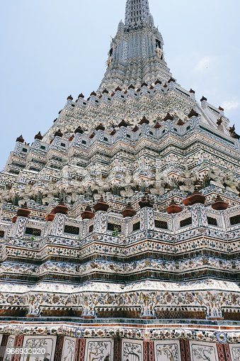 Colorful details of Wat Arun temple