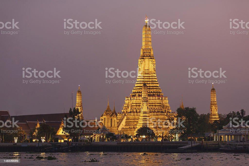 wat arun temple stock photo