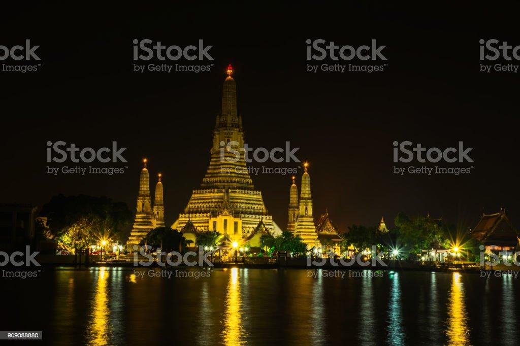 Wat arun temple,Buddhist temple in Bangkok Thailand. stock photo