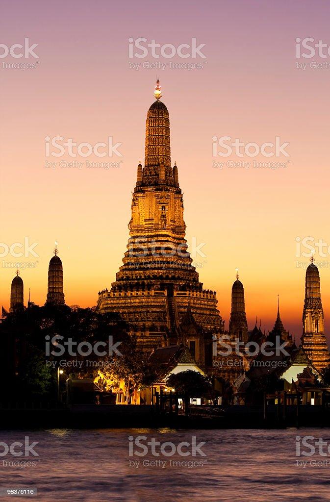 Wat Arun, the Temple of Dawn at sunset, Bangkok royalty-free stock photo