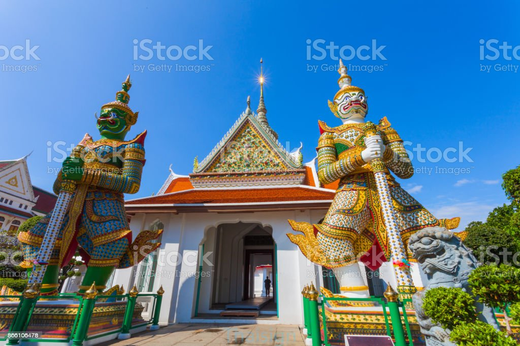 Wat Arun the Temple of Dawn in Bangkok, Thailand stock photo