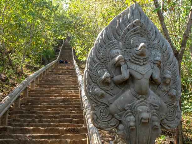 Wat Banan near Battambang, Cambodia. stock photo