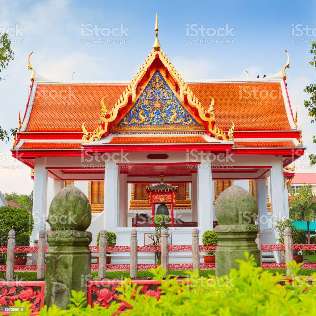 Wat Benchamabophit, four princesses pavilion, Bangkok, Thailand stock photo