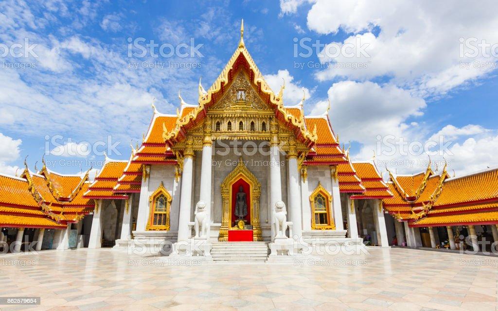 Wat Benchamabopit Dusitvanaram, a famous temple in Bangkok, Thailand. stock photo
